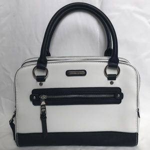 Brand new black and white purse